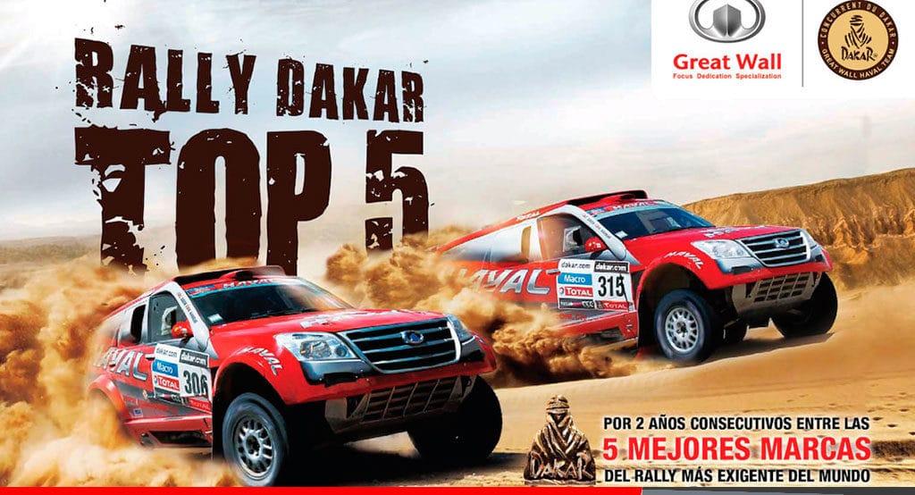 Noticias Ambacar Great Wall entre las 5 Mejores Marcas del Rally Dakar