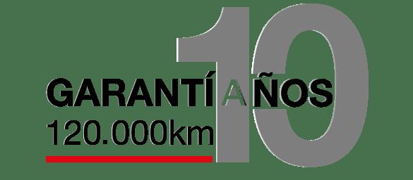Garantía Ambacar de 10 años o 120 mil Km