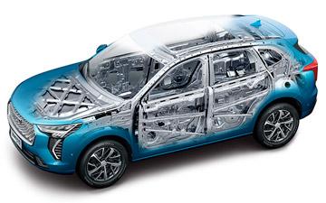 SUV Ambacar Haval All New H2 con carroceria con deformación programada