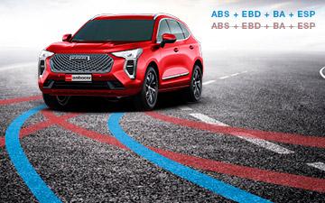 SUV Ambacar Haval All New H2 Jolion con sistemas de seguridad ABS, EBD, BA, ESP