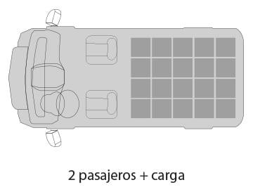 Van Ambacar Shineray X30 de carga distribución de asientos