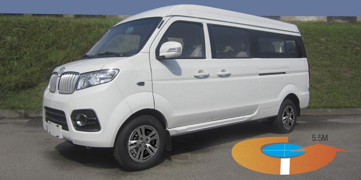Van Shineray 11 pasajeros -X30 L blanca