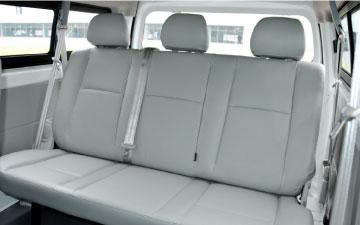 Van Ambacar Shineray X30 para 8 pasajeros última fila de asientos