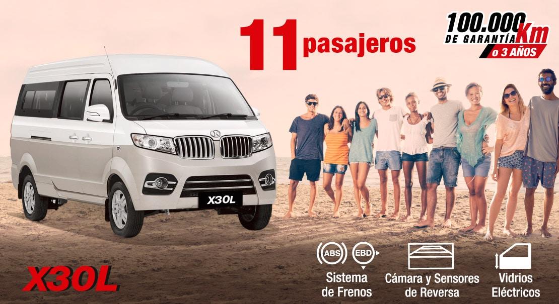 Shineray-X30L-van ideal-furgoneta ideal-11 pasajeros-turismo-escolar-transporte