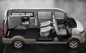 Van Shineray X30LS con asientos abatibles