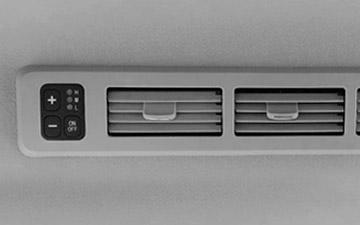Van Shineray X30LS con salida posterior de aire acondicionado