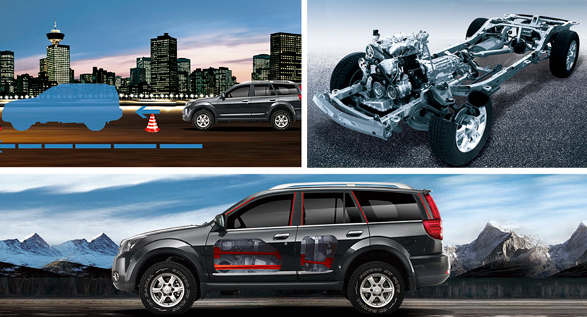 SUV Great Wall H5 Turbo con chasis reforzdo y barras laterales de seguridad