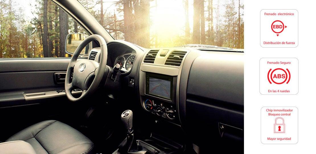Camioneta Great Wall Wingle 5 sistema de seguridad ABS y EBD, Distribución de la fuerza de frenado electrónica
