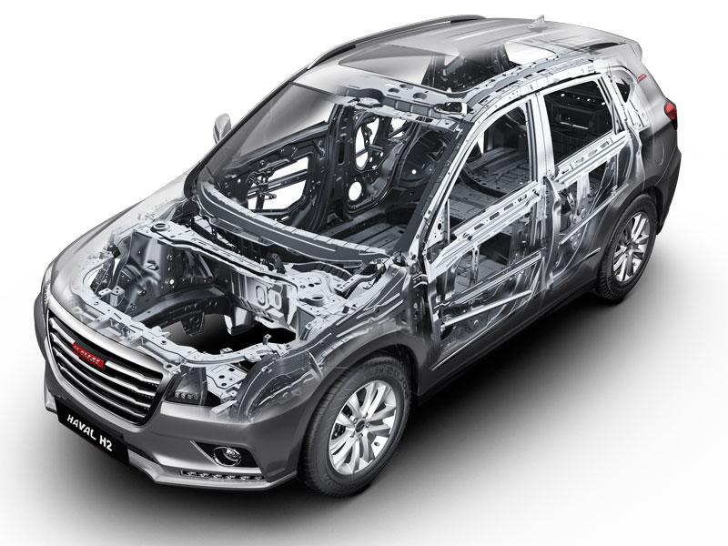 SUV Haval H2 con carrocería deformable