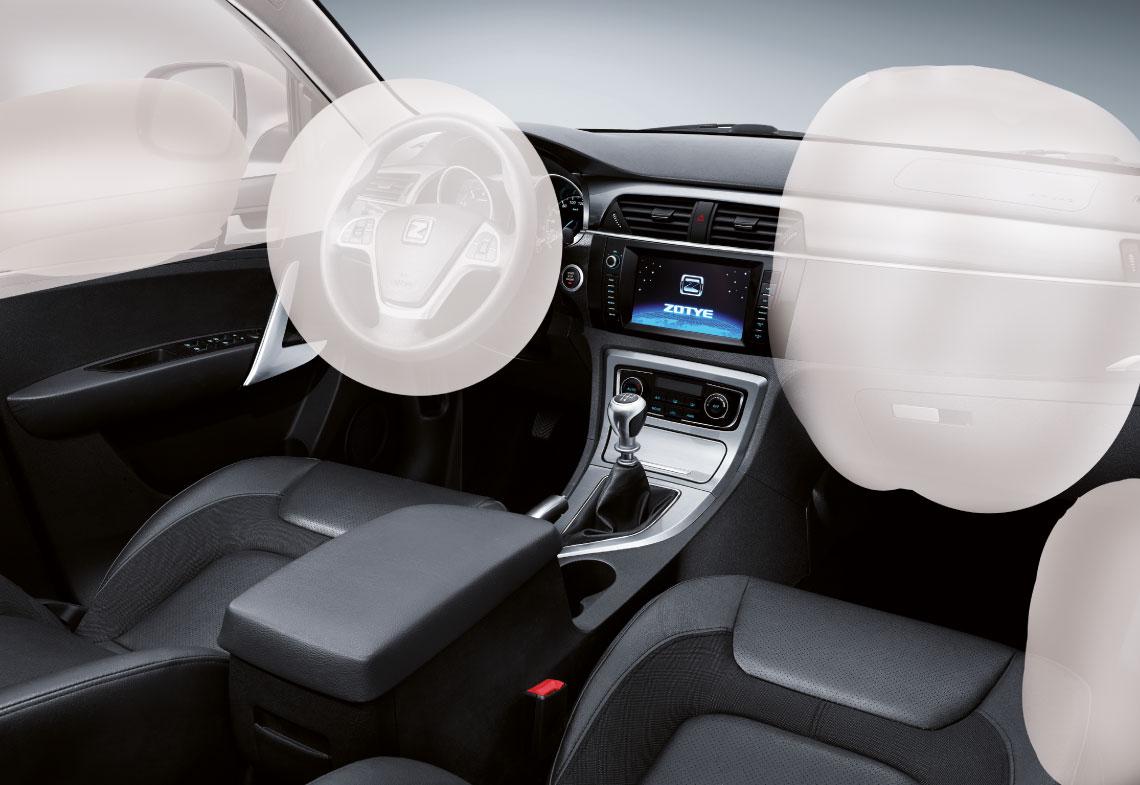 SUV Zotye T600 seguridad pasiva con 6 airbags, full equipo