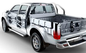 Camioneta Great Wall Wingle 7 estructura posterior