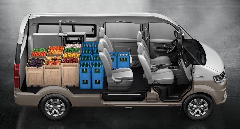 Shineray X30LS furgoneta con gran espacio de carga
