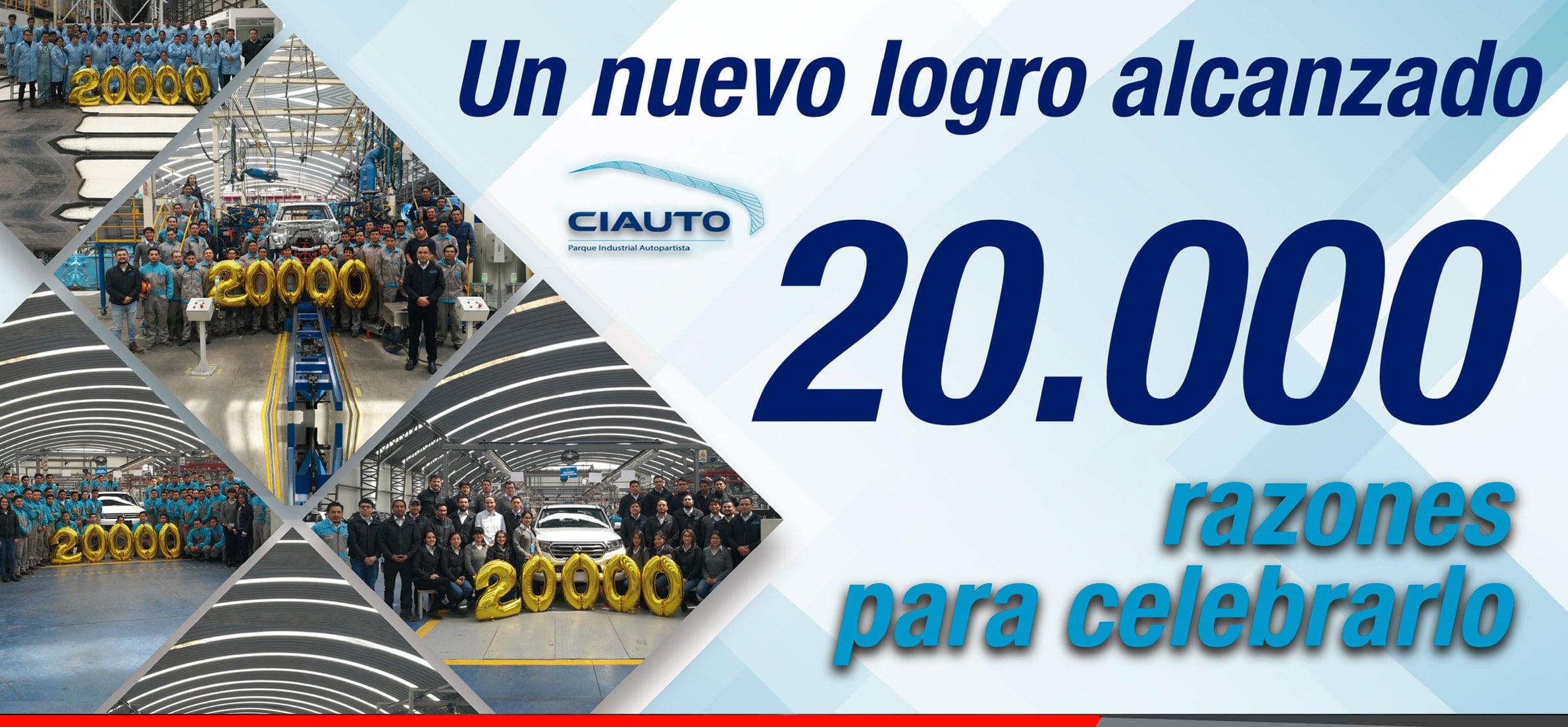 20000 carros ensamblados en CIAUTO