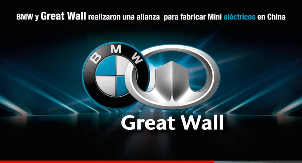 Ambacar alianza de Great Wall Motors y BMW para fabricar autos eléctricos en China