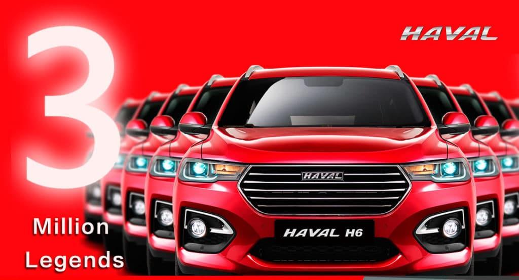 Ambacar Haval All New H6 tres millones de unidades vendidas