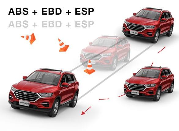 SUV Ambacar Shineray SWM con frenos ABS, EBD, ESP
