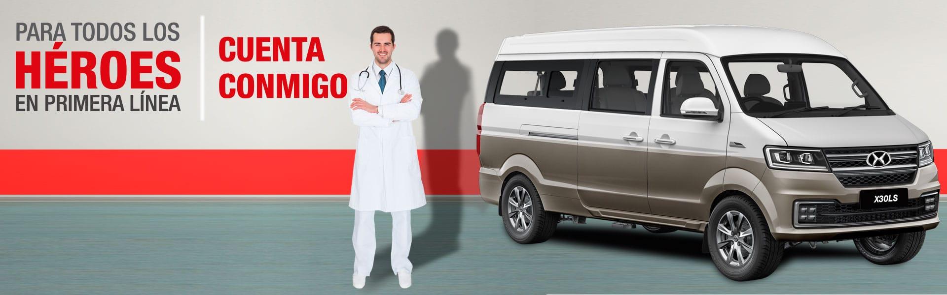 Campaña cuenta conmigo, médicos ecuatorianos van Ambacar Shineray X30LS