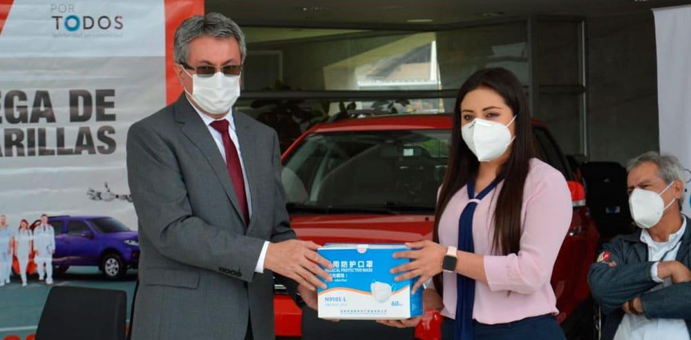 Noticias Ambacar donación gobernadora de Tungurahua