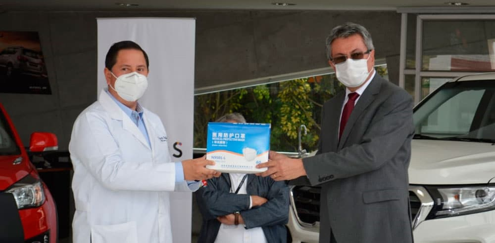 Noticias Ambacar donación de insumos médicos al hospital IESS Ambato