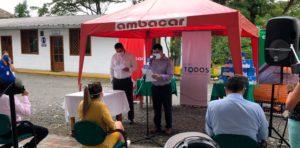 Noticias Ambacar, donación de mascarillas en concesionario Puyo