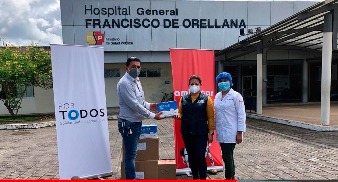 Noticias Ambacar, donación de mascarillas a hospitales