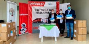 Noticias Ambacar, donación de mascarillas en concesionario Esmeraldas