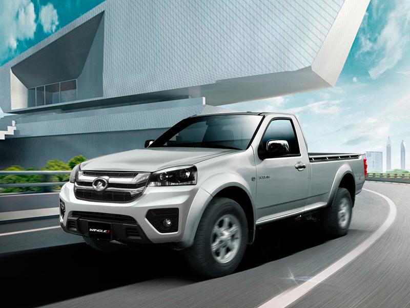 Camioneta a gasolina Great Wall Wingle S cabina simple, potencia y seguridad