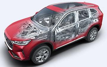 SUV Ambacar H6 tercera generación columna de dirección colapsable