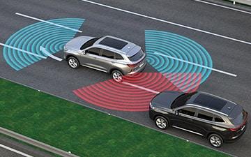SUV Ambacar H6 tercera generación sensores de proximidad