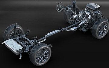 SUV Ambacar H6 tercera generación suspensión McPherson