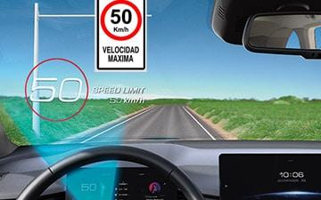 SUV Ambacar H6 tercera generación lector de señales de tránsito - TSR